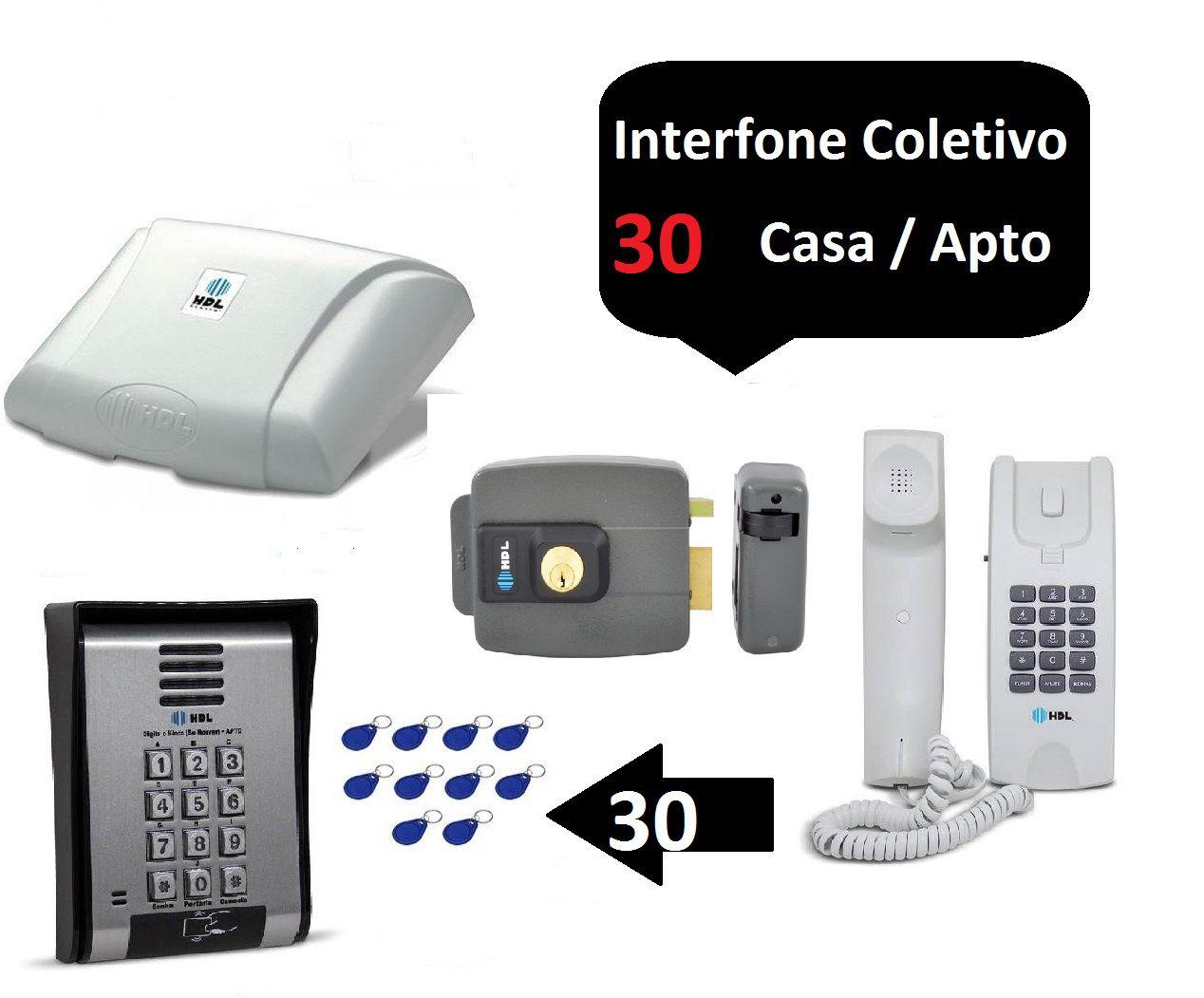 Porteiro Coletivo 30 Ponto Fechadura Controle De Acesso Hdl + 60 TAGS
