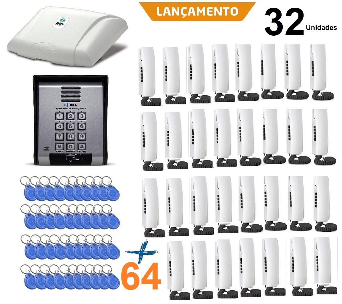 Porteiro Coletivo 32 Pontos Porteiro Externo, Controle De Acesso Hdl e 64 TAGS