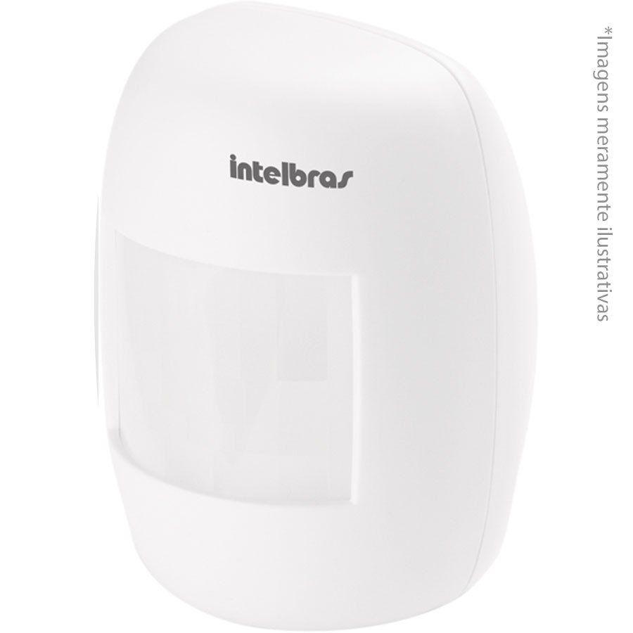 Sensor de Presença Infravermelho IVP 3021 Intelbras Com Fio Passivo, 2 níveis de sensibilidade, Cobertura com ângulo de 115° e Alcance de 12m