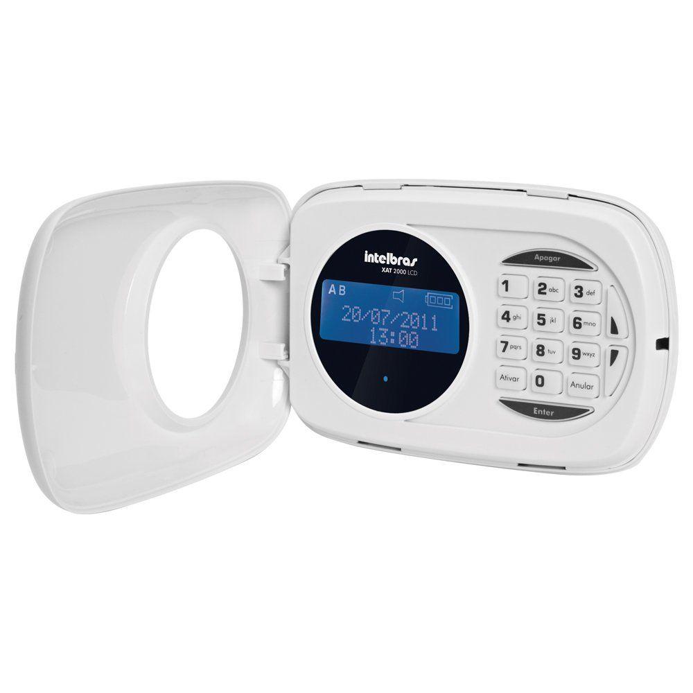 Teclado LCD Intelbras XAT 4000 LCD, para central de alarme monitorada