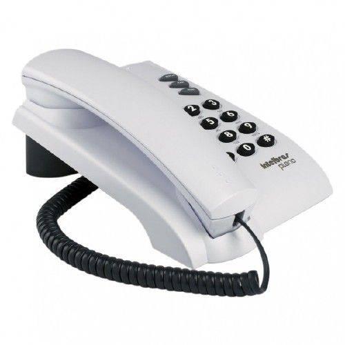 Telefone com fio de mesa ou parede Pleno Cinza Ártico – Intelbras