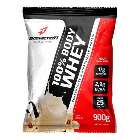 100% Body Whey Refil Body Action - 900g