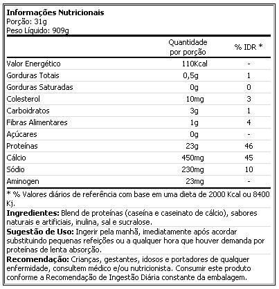 100% Casein Optimum Nutrition - 900g