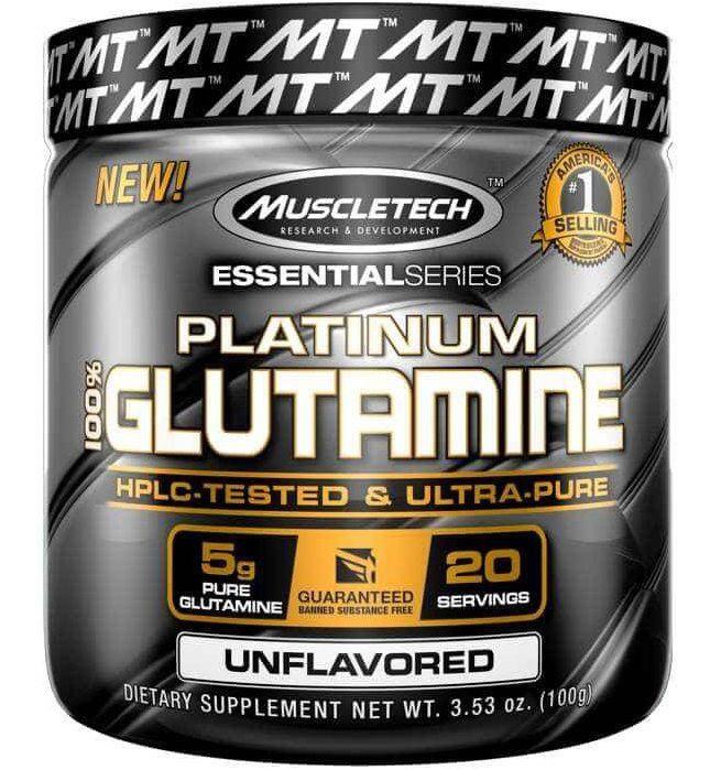 100% Platinum Glutamine MuscleTech - 100g