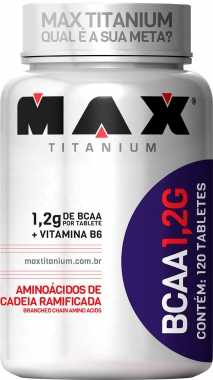 BCAA 1.2g Max Titanium - 120 tabletes