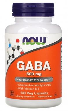 GABA 500mg Now Foods - 100 caps