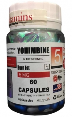 Ioimbina 5mg Eurovitamins - 60 caps