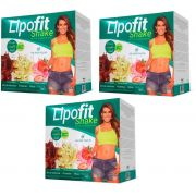 Kit 3X Lipofit Shake Cimed 900g