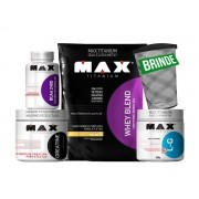 Kit Whey Blend 2kg + Creatina + Glutamina + BCAA 2400 (BRINDE)