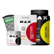 Kit Whey Pro + Massa 17500 + Creatina (BRINDE)