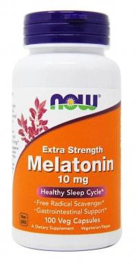 Melatonina 10mg Now Foods - 100 caps