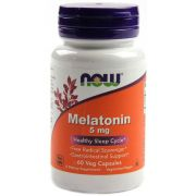 Melatonina 5mg Now Foods - 60 caps