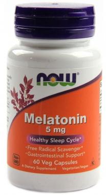Melatonina 5mg Now Foods - 60 caps