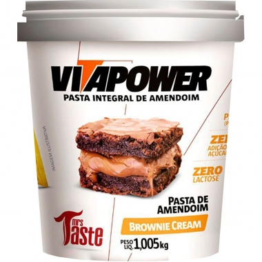 Pasta de Amendoim Brownie Cream VitaPower - 1kg