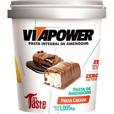 Pasta de Amendoim Press Cream VitaPower - 1kg