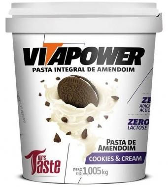 Pasta Integral Cookies & Cream VitaPower - 1kg