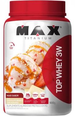 Top Whey 3W Mais Sabor Max Titanium - 900g