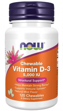 Vitamina D-3 5000ui Now Foods - 120 caps