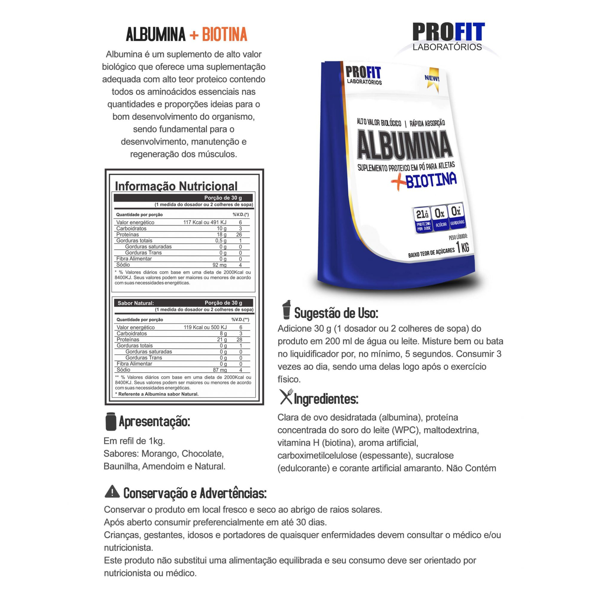 Albumina Profit - 1kg