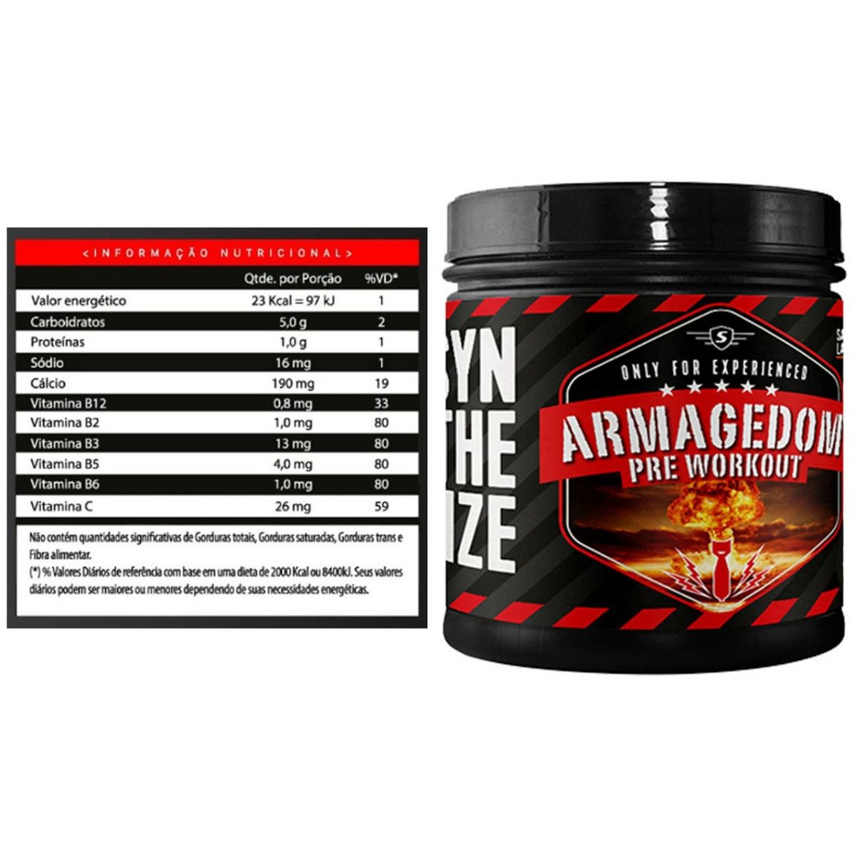 Armagedom Pre Workout SyntheSize - 200g