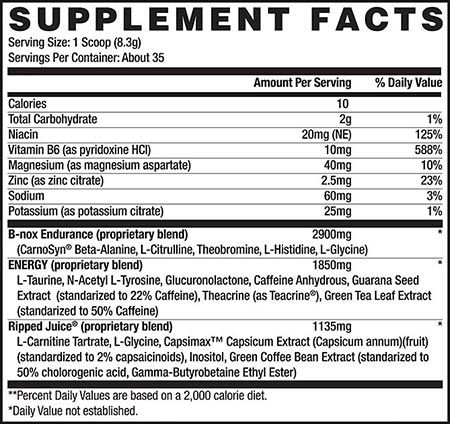 B-Nox Ripped Betancourt Nutrition - 30 doses