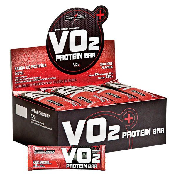 Barra de Proteína VO2 Protein Bar IntegralMedica - CX C/ 24
