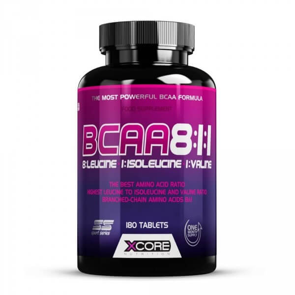 BCAA 8:1:1 XCore Nutrition - 180 caps