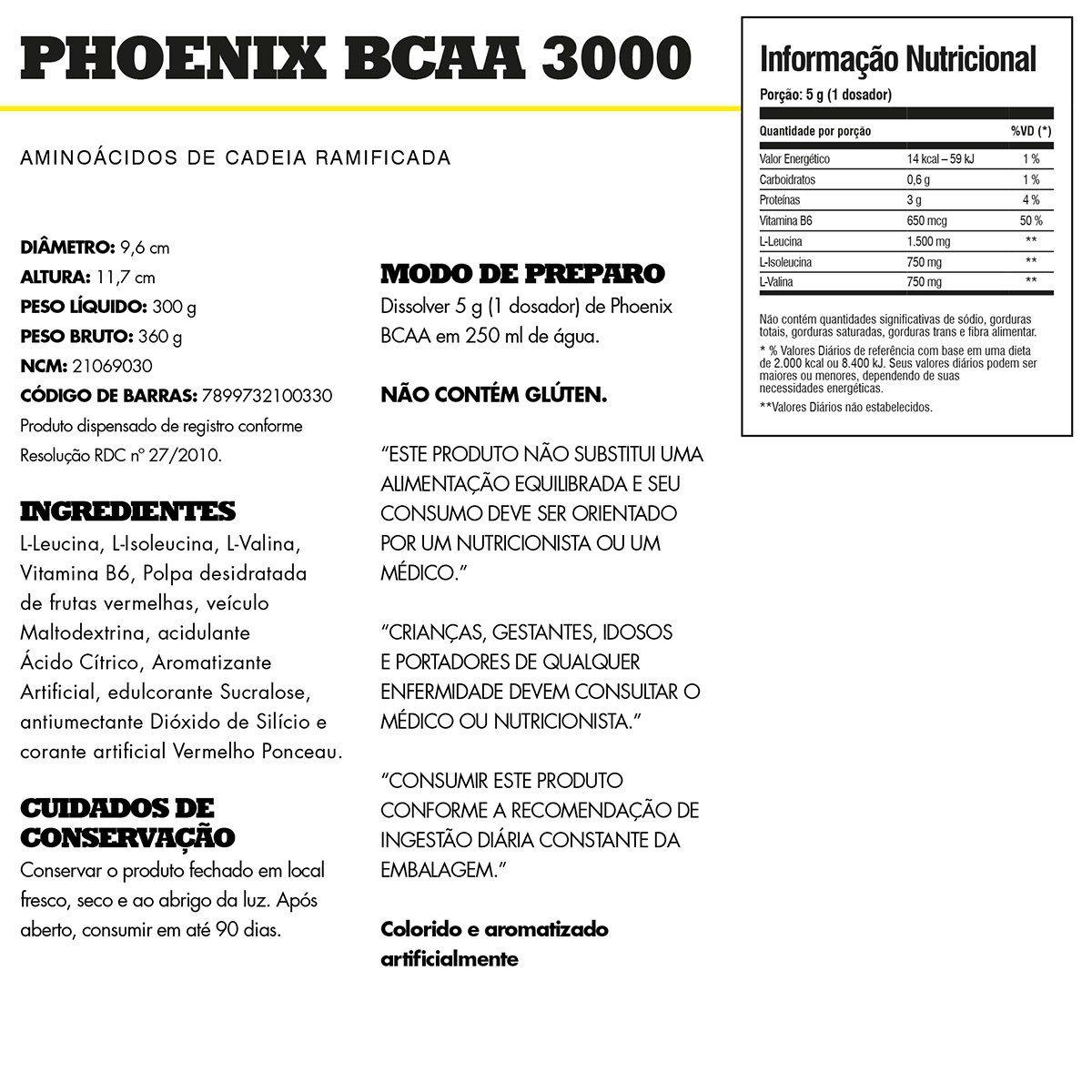 BCAA Phoenix Iridium Labs - 300g