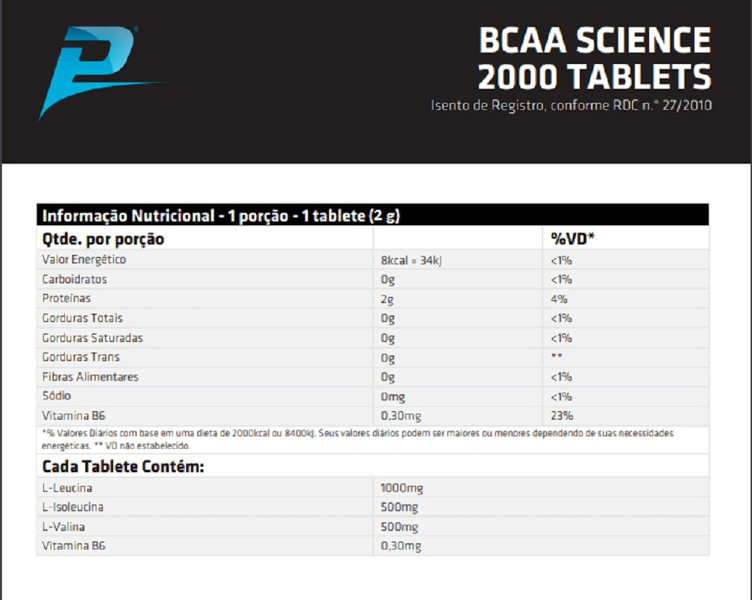 BCAA Science 2000 Performance Nutrition - 100 tabletes