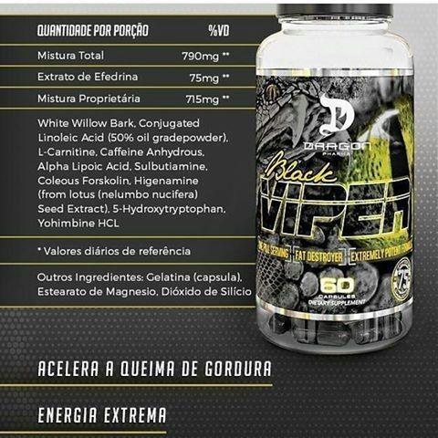 Black Viper Fat Destroyer Dragon Pharma - 90 caps
