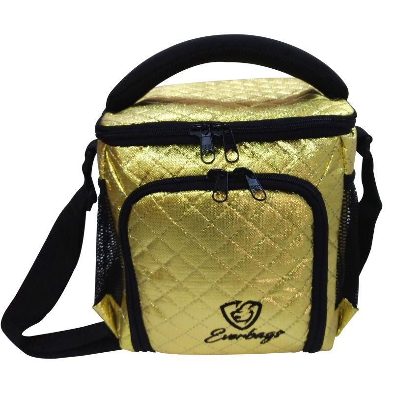 Bolsa Térmica Compacta Matelassê Dourado Everbags