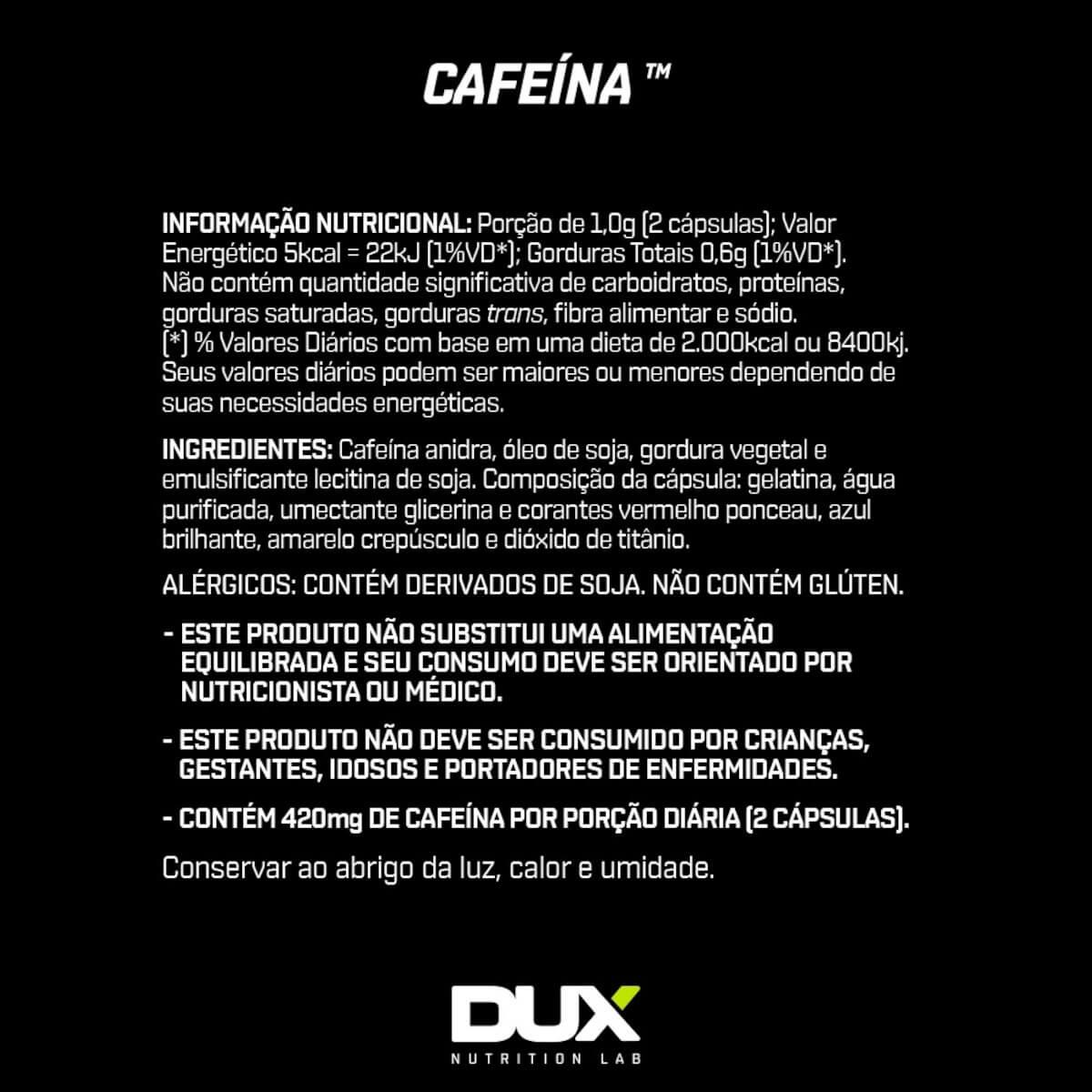 Cafeína DUX Nutrition - 90 caps