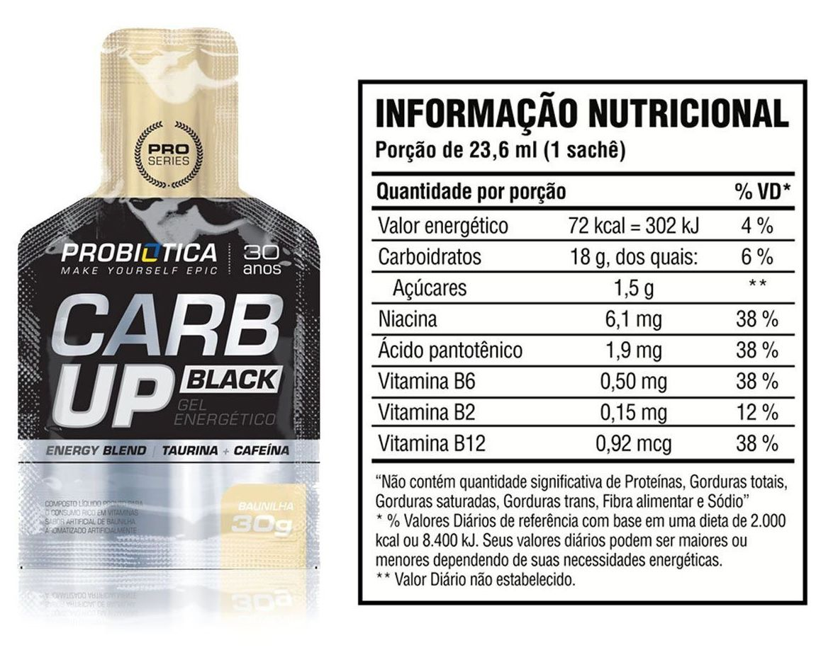 Carb UP Black Probiotica - CX C/ 10