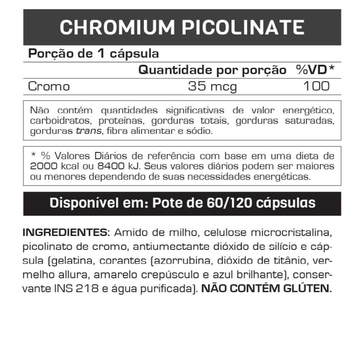 Chromium Picolinate Max Titanium - 120 caps