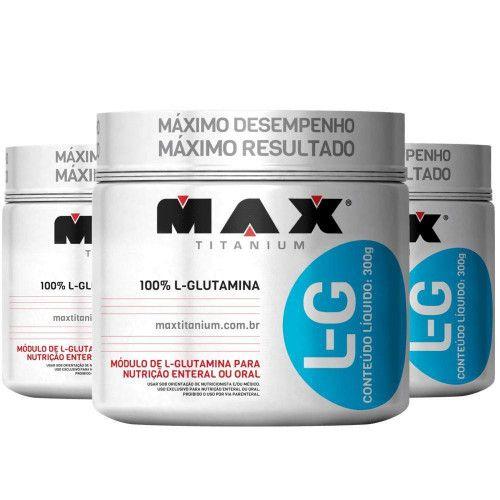 Combo 3x Glutamina L-G Max Titanium