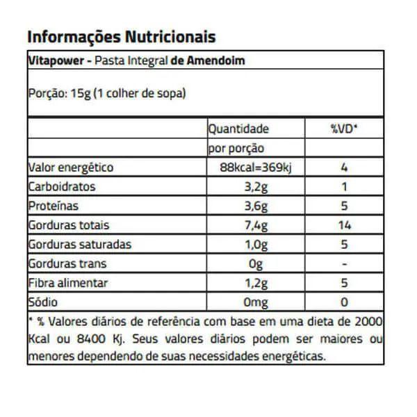 Combo 4x Pasta de Amendoim VitaPower - 4kg TOTAL