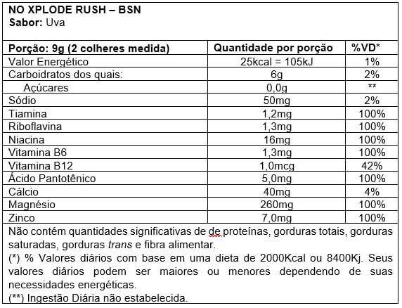 N.O Xplode Rush BSN - 30 doses