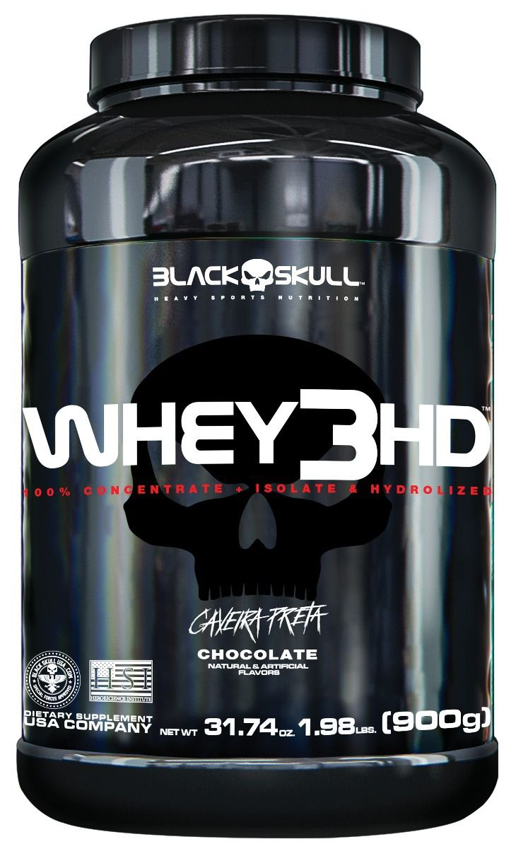 Whey 3HD Caveira Preta Black Skull - 900g