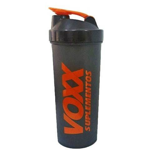 Coqueteleira Voxx Suplementos Preta - 600ml