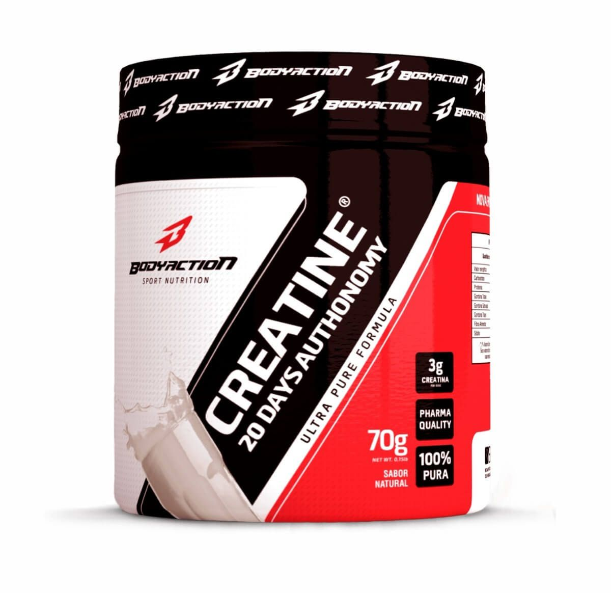 Creatina 20 Days Autonomy Body Action - 70g