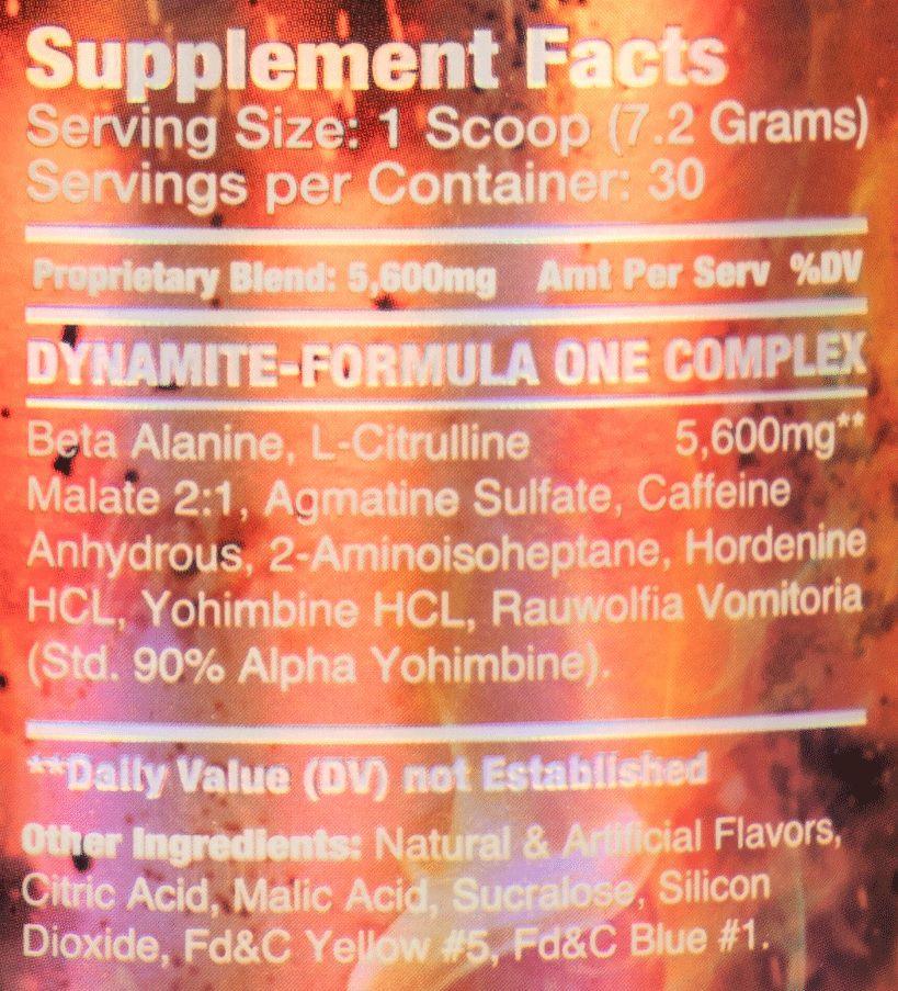 Dynamite Formula ONE Dynamic Formulas - 30 doses