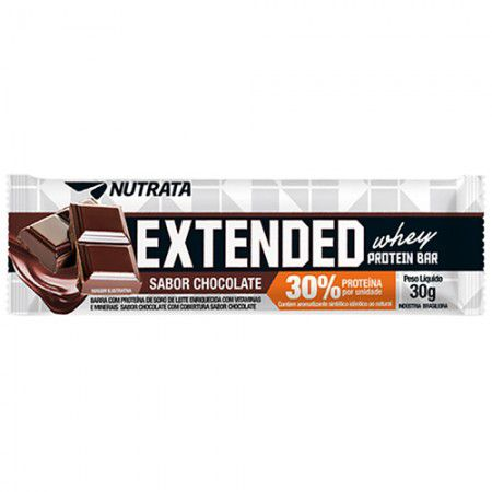 Extended Whey Protein Bar 30% Nutrata 30g - (unidade)