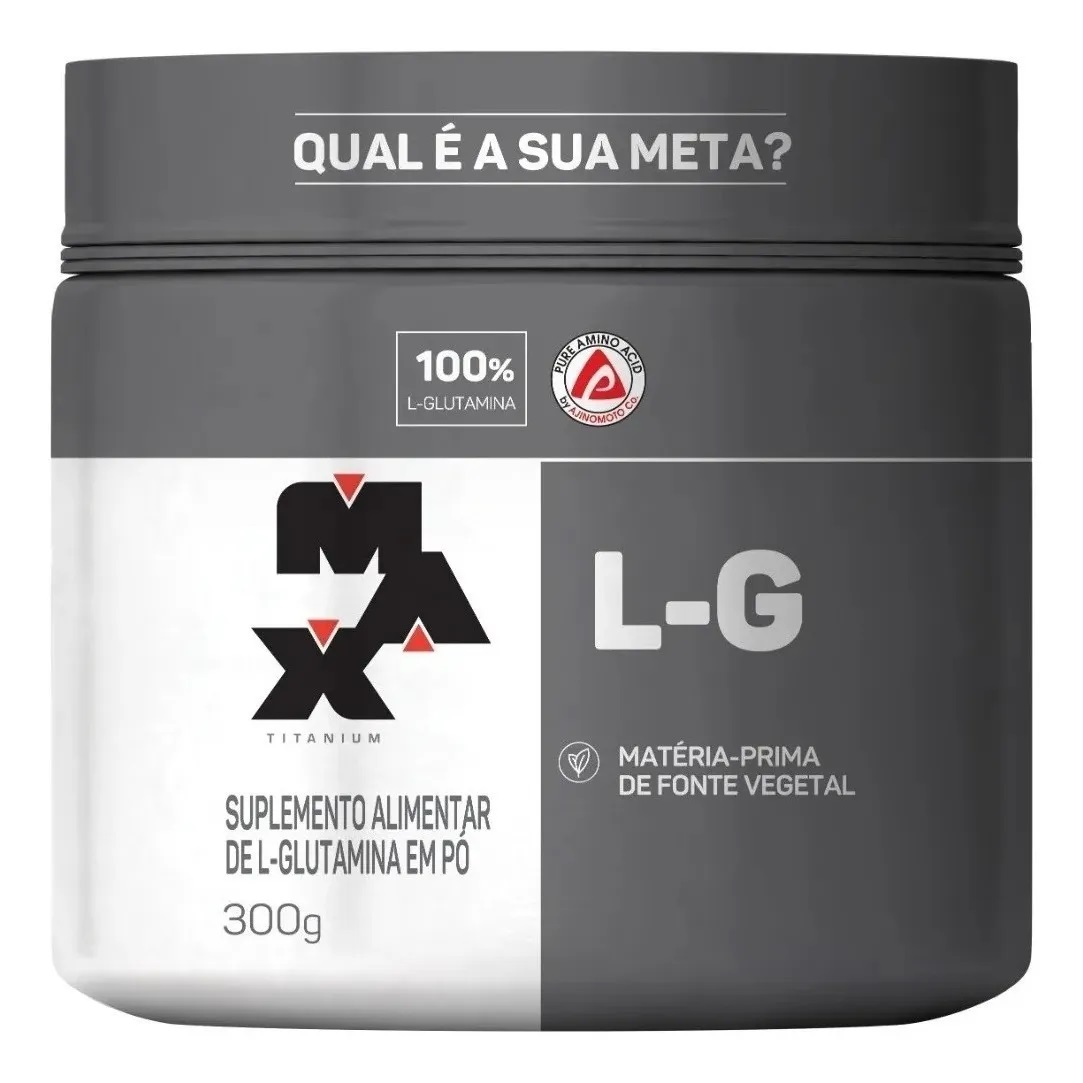 Glutamina L-G Max Titanium - 300g