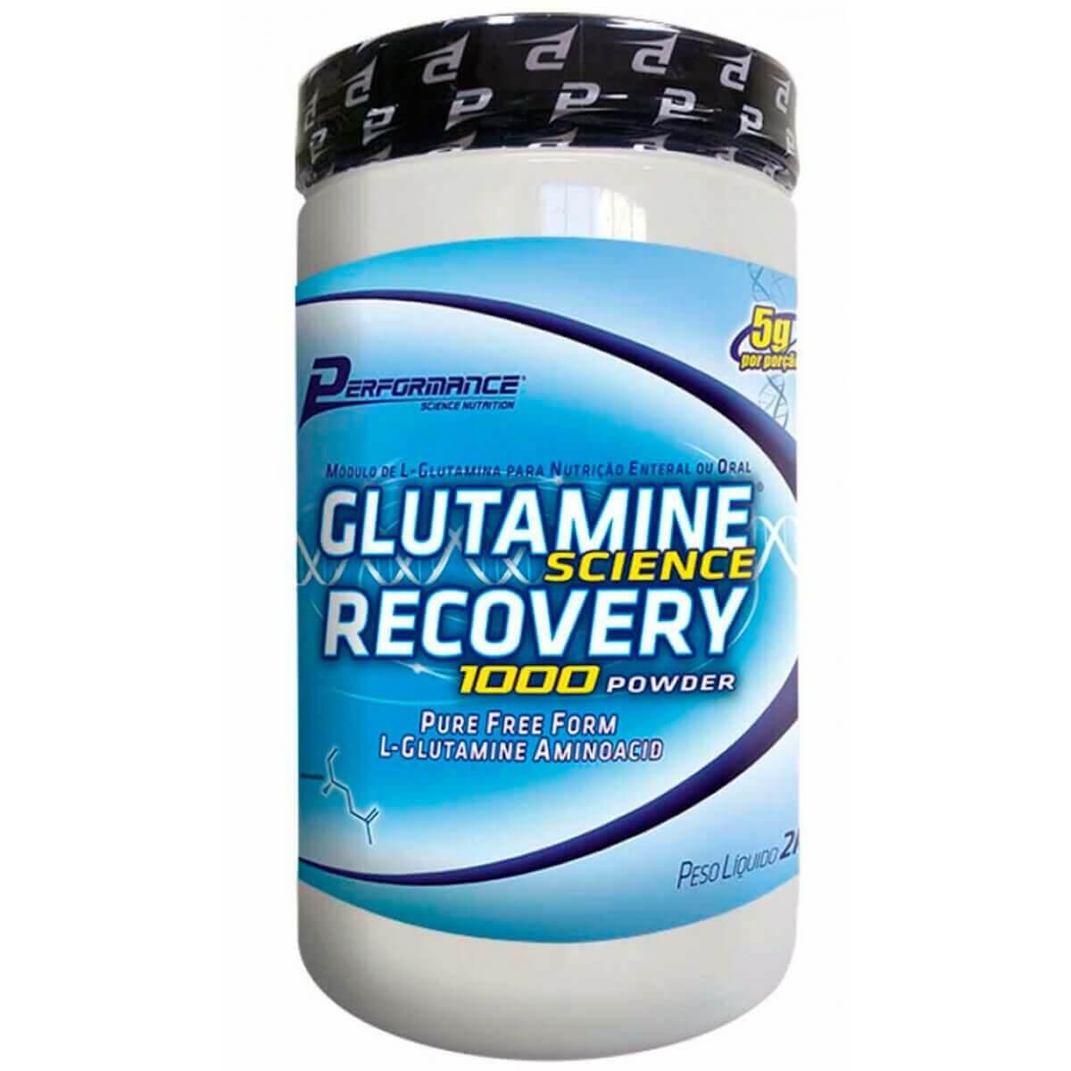Glutamine Science Recovery 1000 Powder Performance Nutrition - 2kg