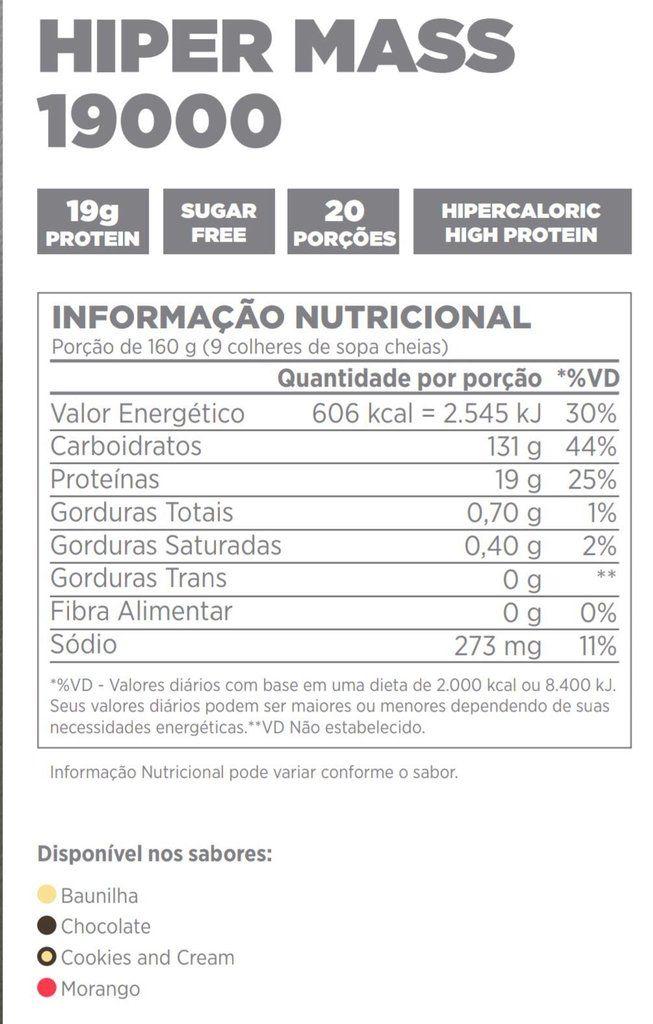 Hiper Mass 19000 Atlhetica Nutrition - 3,2kg