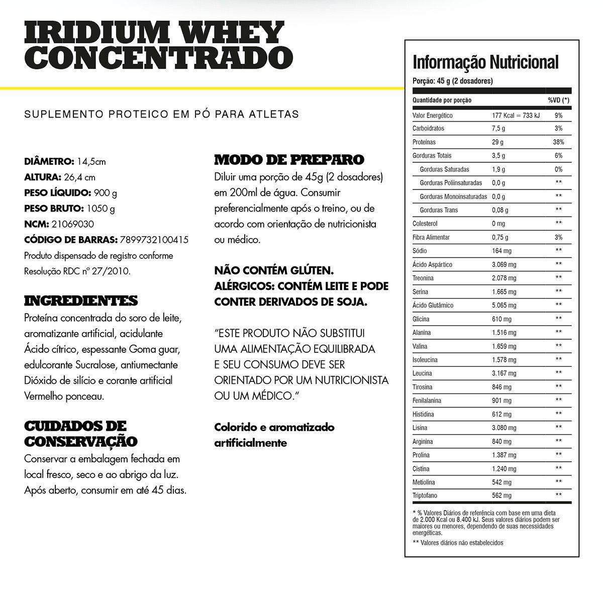 Iridium Whey Iridium Labs - 900g