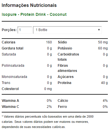 Isopure Drink Nature's Best - 519ml