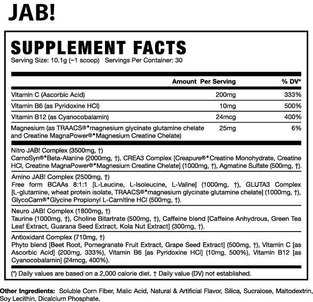 Jab! Feel It GT Nutrition - 30 doses