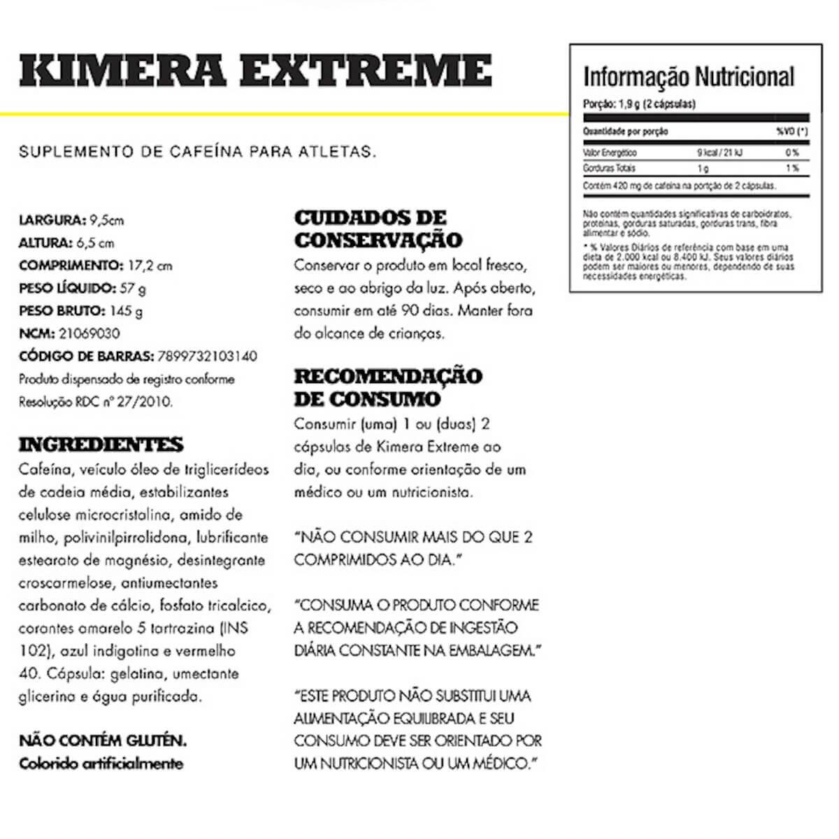 Kimera Extreme  Iridium Labs - 60 cps