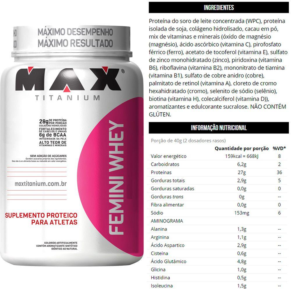 Kit Manutenção Muscular Feminino Max Titanium